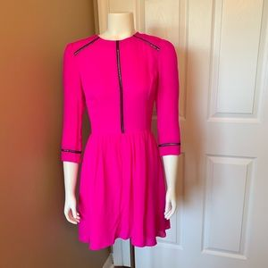 Dolce Vita Ives Silk Dress in Hot Pink, Size Small